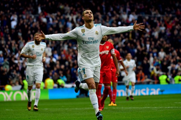 Ronaldo Hits Brace As Real Madrid Trounce Sevilla