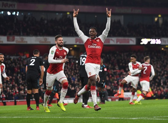Iwobi Rested As Welbeck Fires Arsenal Into Carabao Cup Semi-Finals