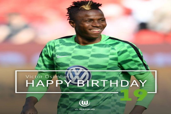 Wolfsburg Celebrate Victor Osimhen At 19