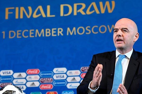 FIFA President, Infantino: I Will Watch Russia 2018 Draw As Football Fan