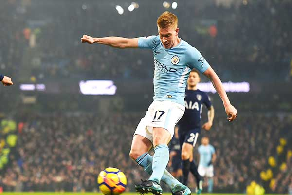 Sterling Bags Brace, De Bruyne Stars As Man City Outclass Spurs
