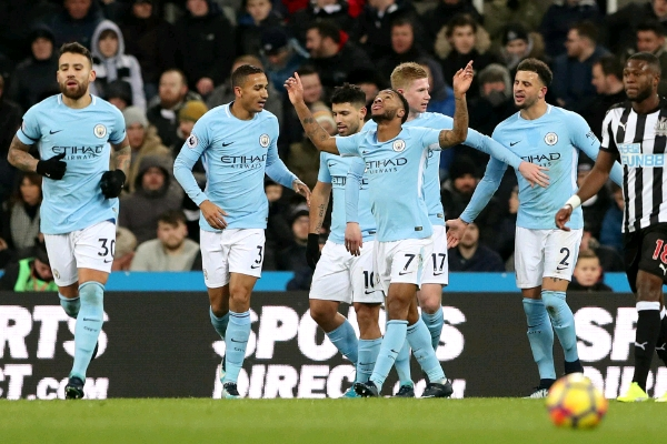 Sterling Scores As Man City Continue Record-Breaking EPL Winning Streak