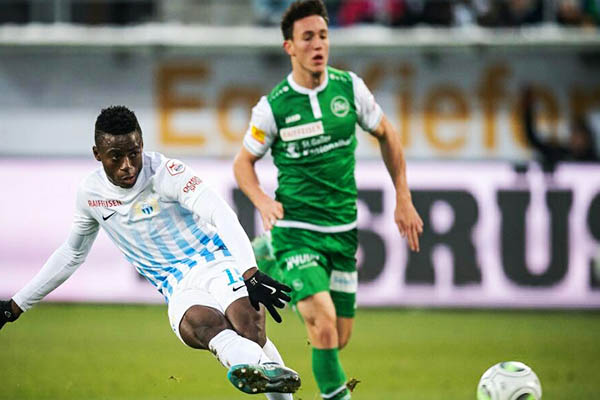 Odey Opens FC Zurich Goals Account In League Defeat