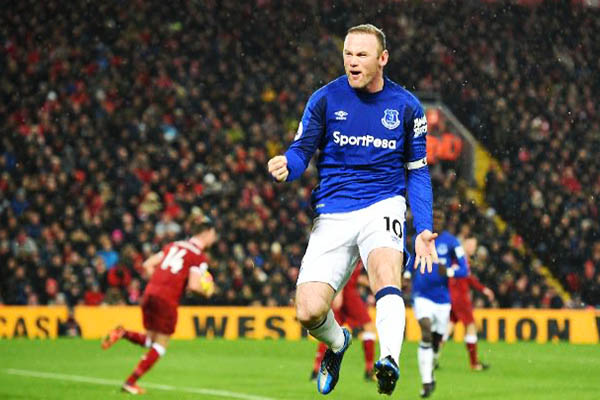 Salah, Rooney On Target As Everton Hold Dominant Liverpool