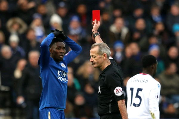 Leicester Boss Puel Laments Ndidi's Red Card In Palace Defeat