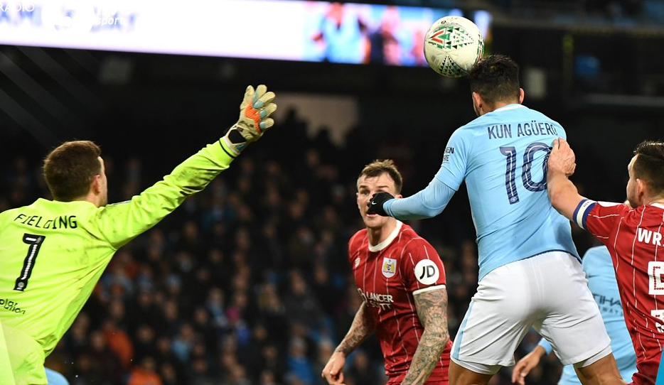 Carabao Cup: Aguero Gives Man City Slender Advantage Over Bristol City