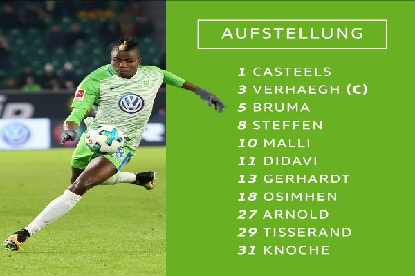 Osimhen Makes First Start, Inspires Wolfsburg To Victory Over Hannover