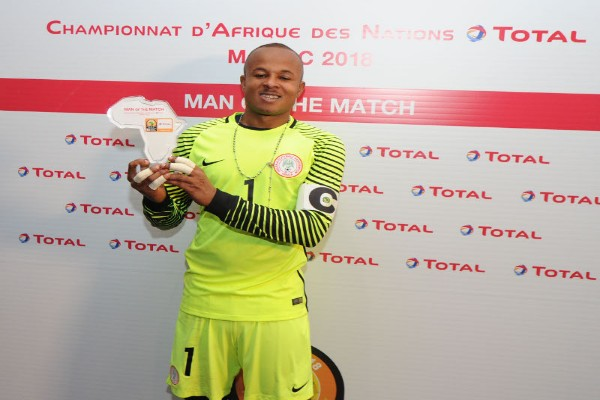CHAN 2018: Ezenwa Happy To Win MOTM Award Vs Angola