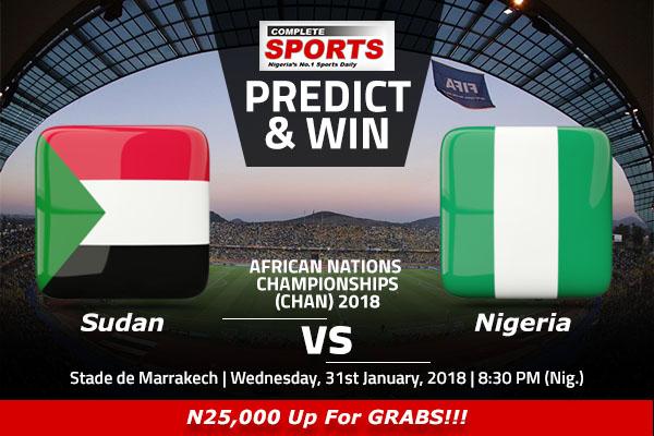 Sudan vs Nigeria: Win 25000 In Complete Sports' Predict And Win Competition