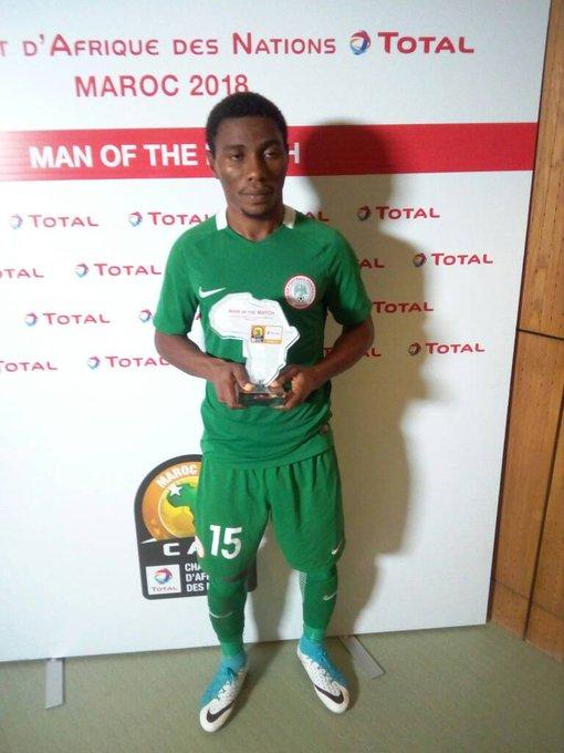 CHAN 2018: Dayo Ojo Named MVP In Nigeria Vs Equatorial Guinea