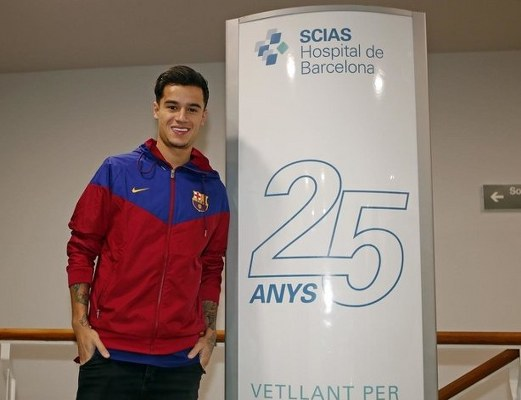 Barca's £142m Signing Coutinho Out For Three Weeks