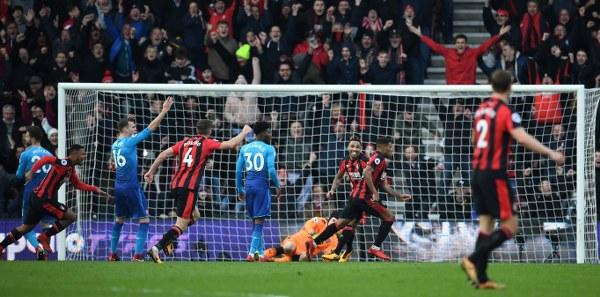 Iwobi Bags Assist, Ibe Hits Winner As Bournemouth Stun Arsenal