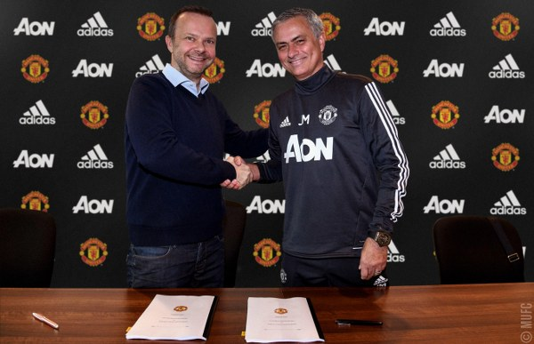 """""""Proud"""" Mourinho Signs Man United Contract Extension"""