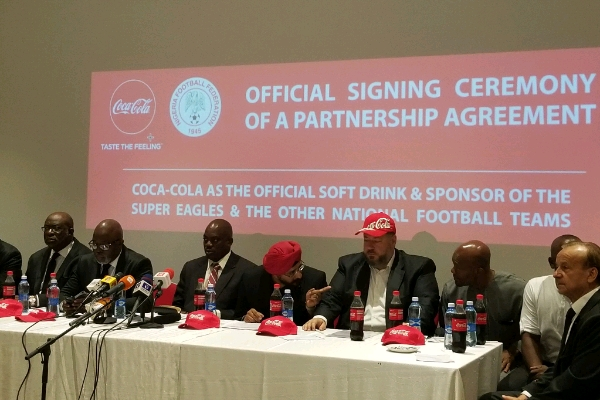 NFF, Coca-Cola Sign $4m Partnership Deal For National Teams