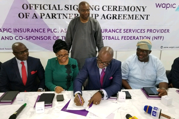 NFF, Wapic Insurance Sign Five-Year Partnership Deal