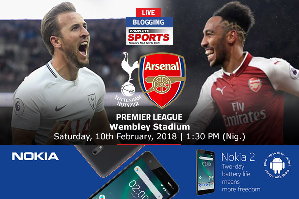 LIVE BLOGGING: Tottenham vs Arsenal – Premier League