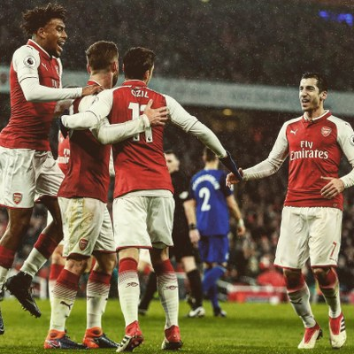 Iwobi Thrilled With Arsenal Destruction Of Everton; Praises Aubameyang, Mkhitaryan