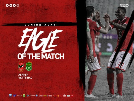 Ajayi Wins Al Ahly MOTM  Award In Win Vs Al-Ittihad