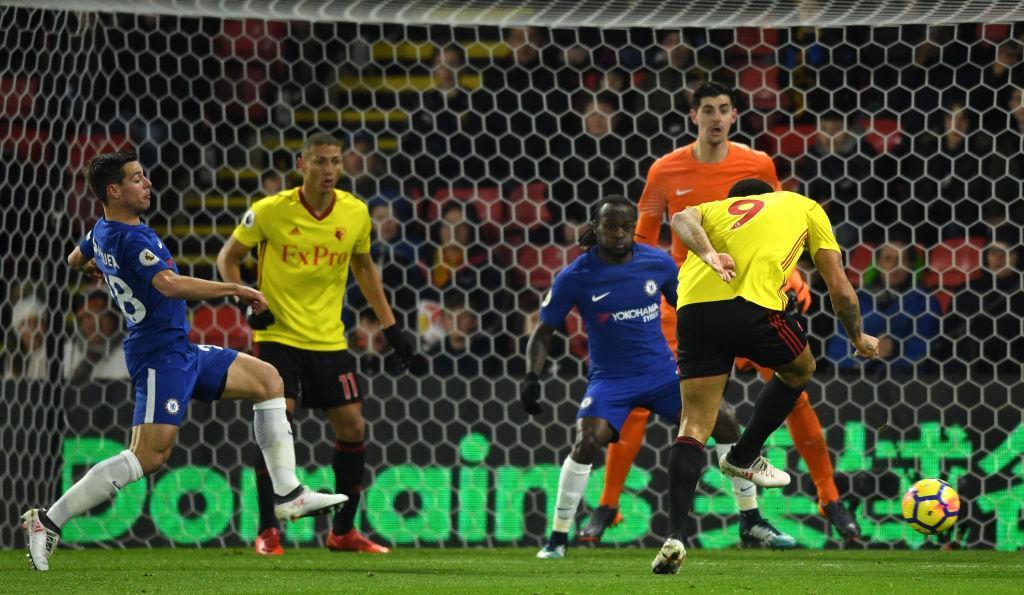 Moses In Action, Giroud Debuts As Watford Hammer 10-Man Chelsea