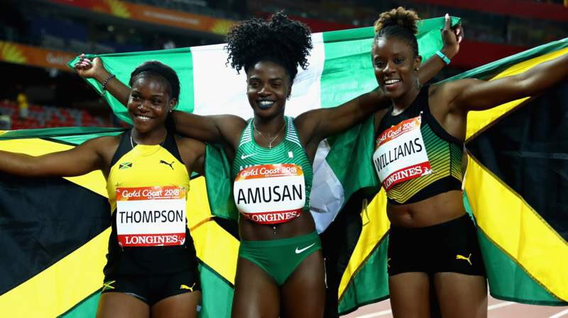 Image result for Oluwatobiloba Amusan becomes First Nigerian to win Gold at Commonwealth Games 100m Hurdles