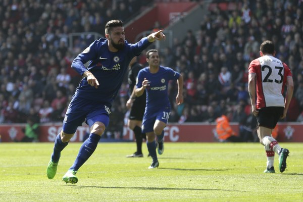What Giroud Said To Hazard After Replacing Morata In Thrilling Chelsea Comeback