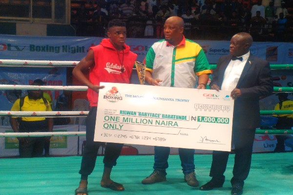GOtv Boxing: Babatunde Wins Best Boxer Award,  ₦1m Cash Prize
