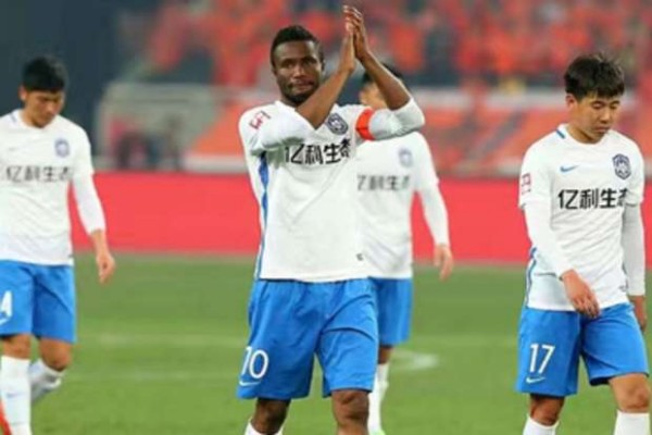 Mikel Happy To Score First Goal Of Season In Tianjin Teda Win