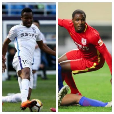 Mikel, Ighalo 'Threaten' Each Other Ahead Of Chinese League Clash