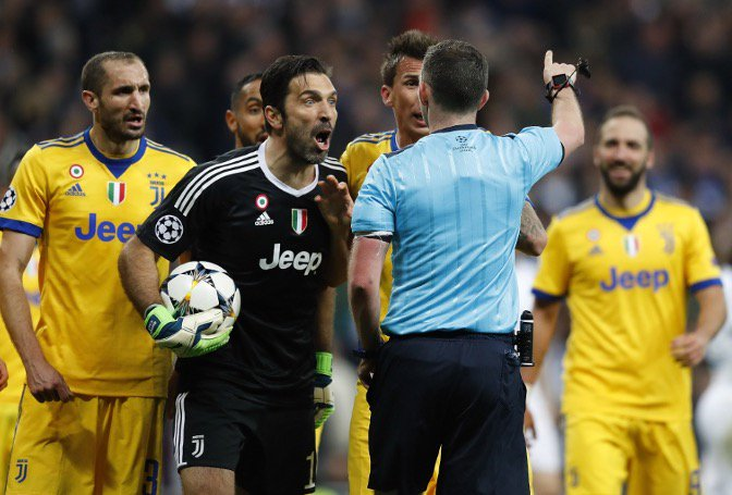 UEFA Charge Buffon Over Outburst Against Ref Oliver