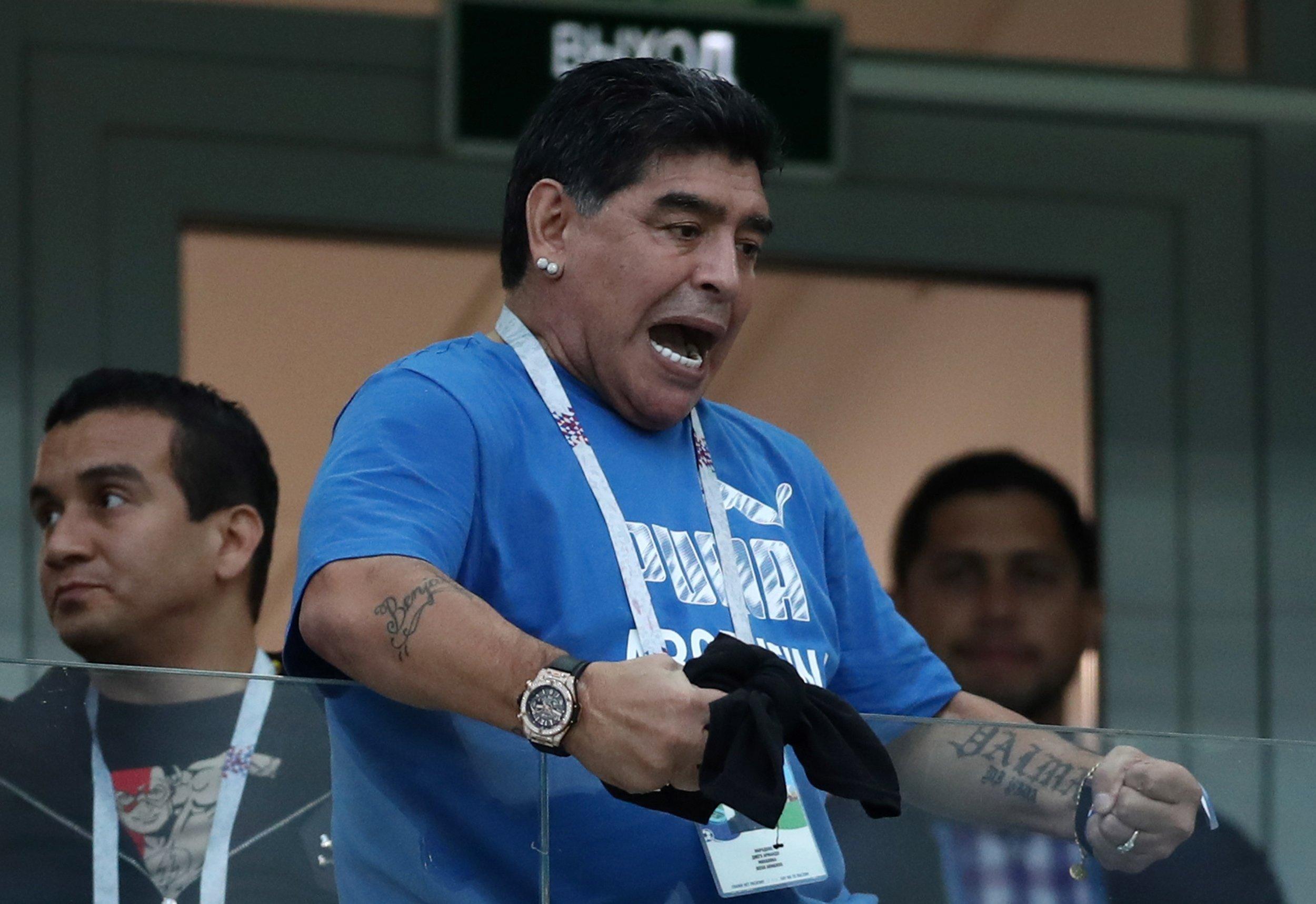FIFA Warn Maradona After Unruly Behaviour During Argentina Vs Nigeria Clash