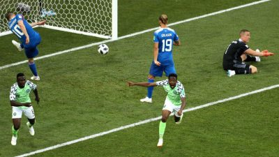 Ahmed Musa's second strike for Nigeria in their second group D game win against Iceland has been voted alongside 17 other strikes for the 2018 FIFA World Cup in Russia goal of the tournament.