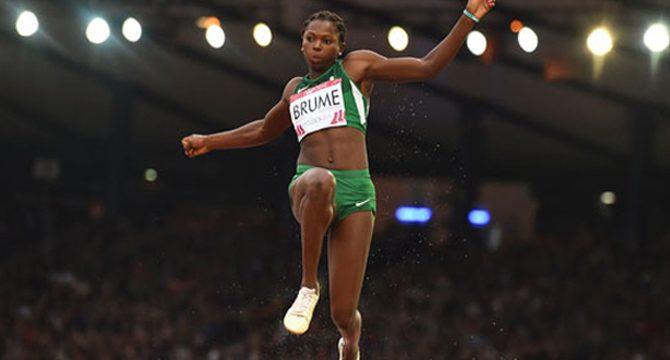 IAAF Diamond League: Okagbare Absent ln 100m, Brume Leaps To 4th In Long Jump