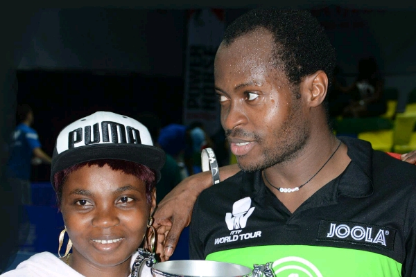Quadri's Wife, Ganiyat: My Husband Promised and Delivered The ITTF Nigeria Open Title
