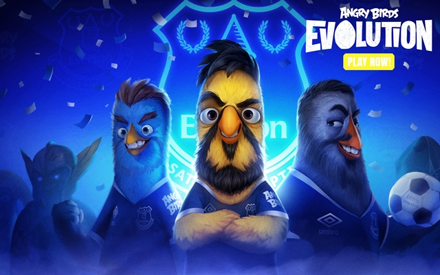Pioneering Everton Undergoes Angry Birds Makeover In Global First