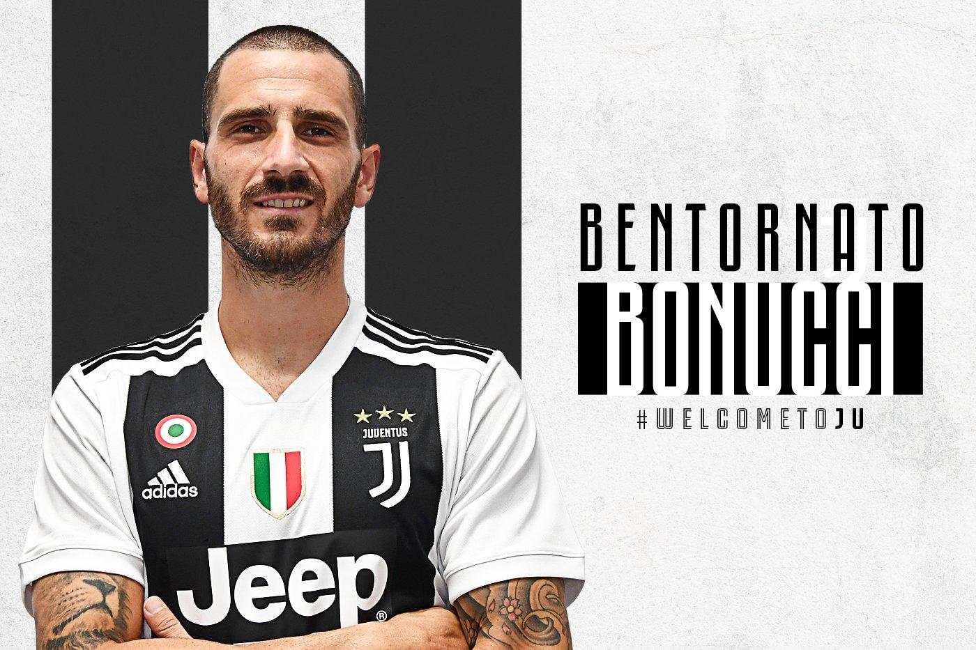 Bonucci Rejoins Juventus From AC Milan