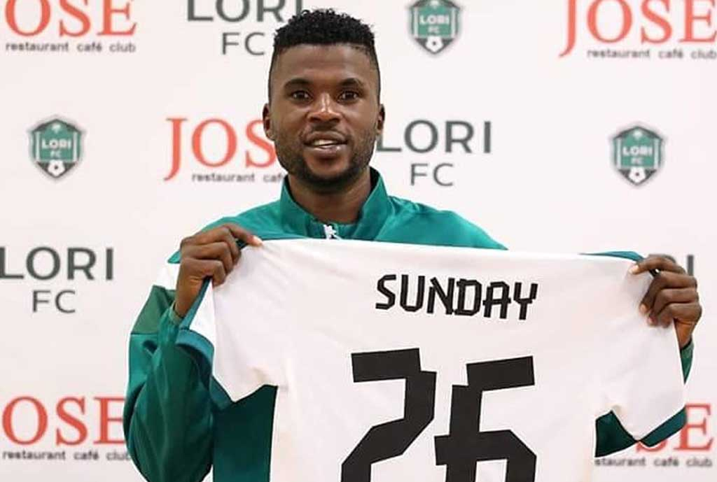 Sunday Ngbede Happy To Join Armenian Club FC Lori From Plateau United