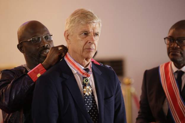 Monrovia Agog As President Weah Decorates Wenger, Le Roy With Liberia's Highest Honour