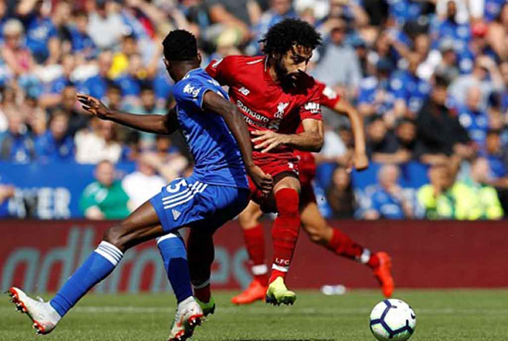 Ndidi In Full Action; Iheanacho Subbed On, Bags Goal Assist In Leicester's Home Defeat To Liverpool