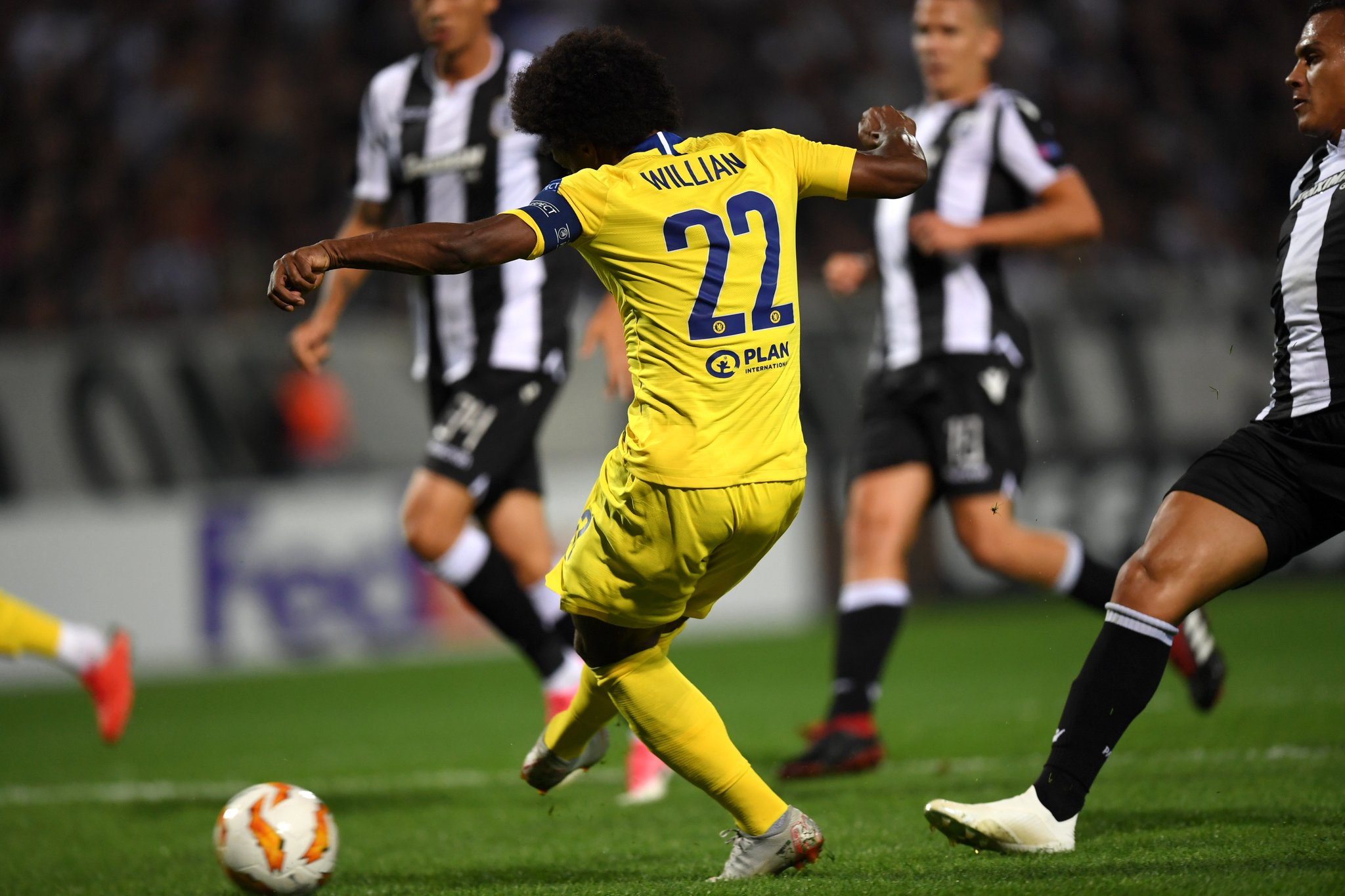 Europa: Moses, Sadiq Benched As Chelsea Win At PAOK, Rangers Hold Villarreal; Agbo Loses With Standard Liege