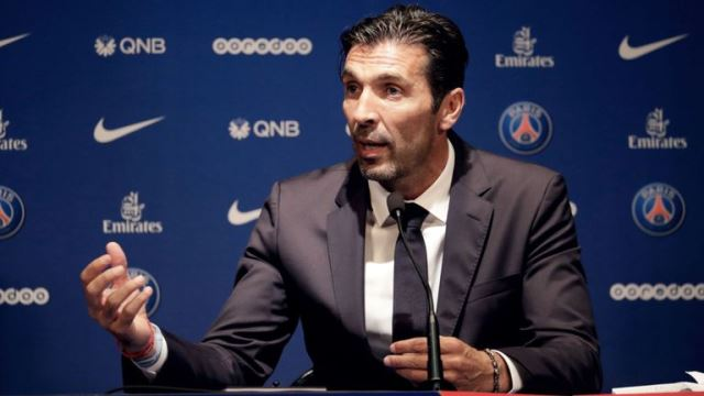 Buffon Loving The PSG Life