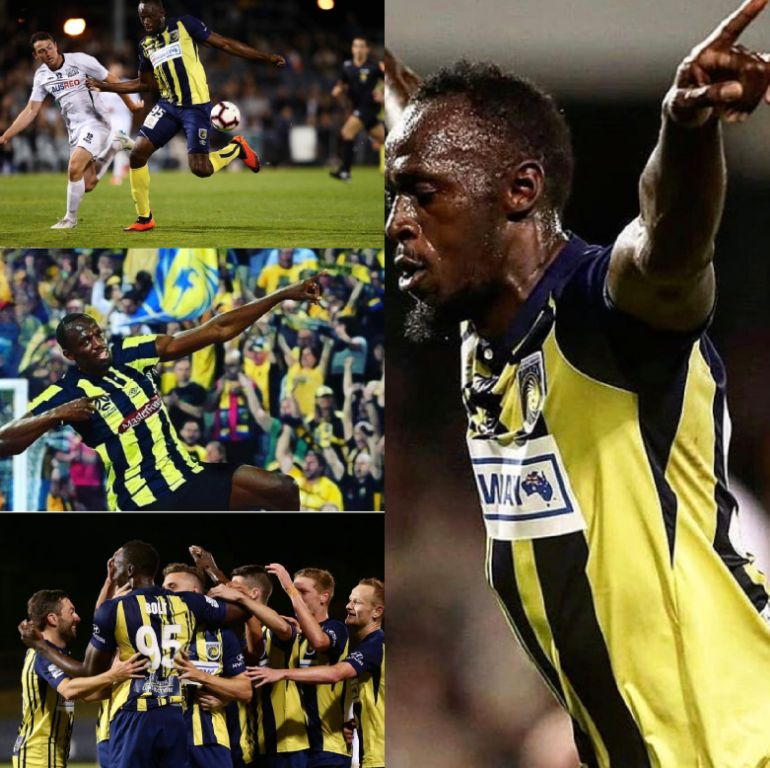 Bolt Bags Brace For Australian Club Mariners In Trial Match