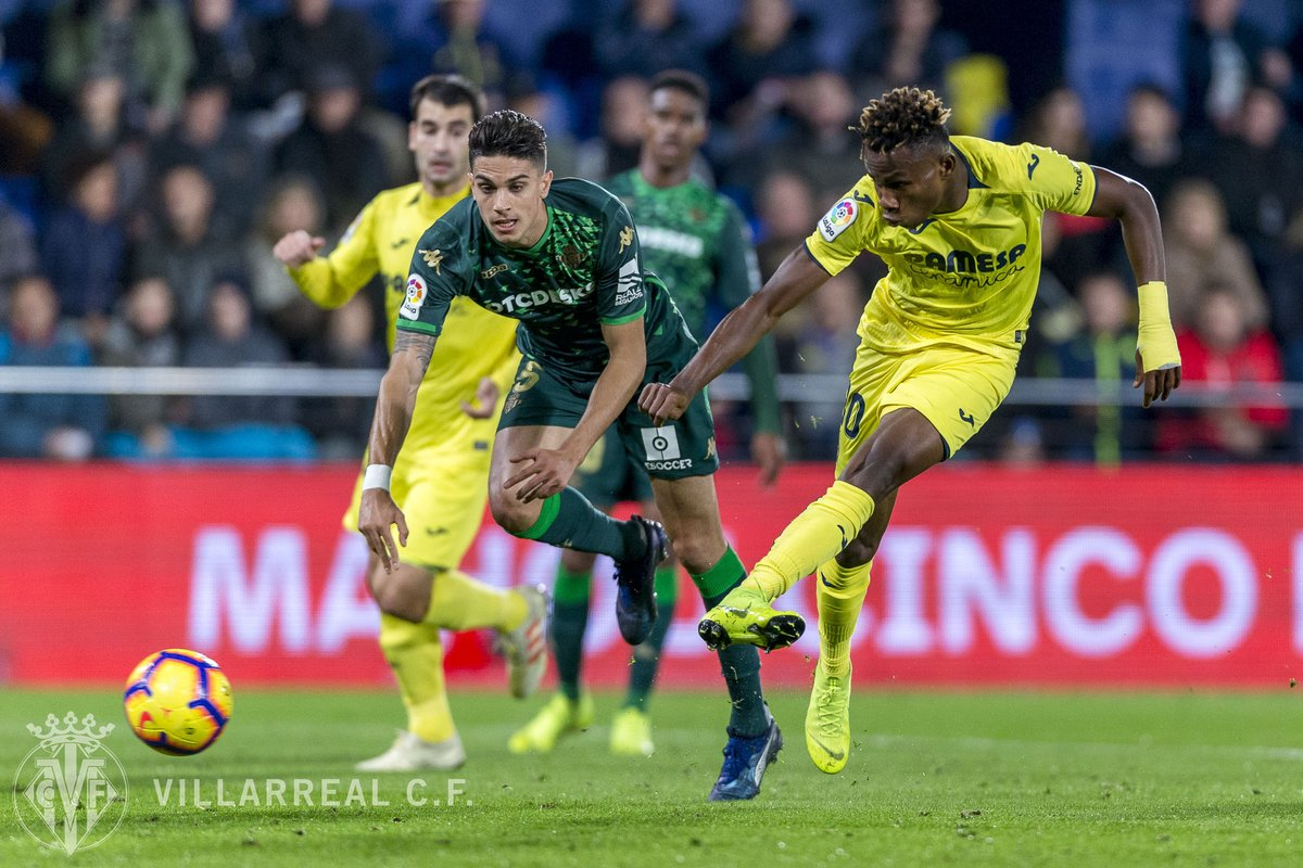 Europa League: Chukwueze Handed Sub Role in Villarreal Draw; Agbo Benched; Moses Missing
