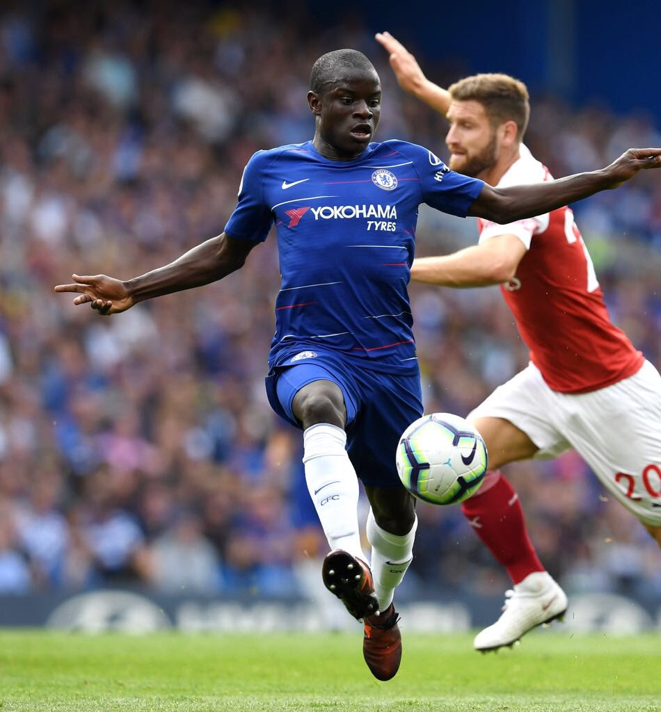 Europa League: Sarri Rules Out Kante's Return To Chelsea Central Midfield