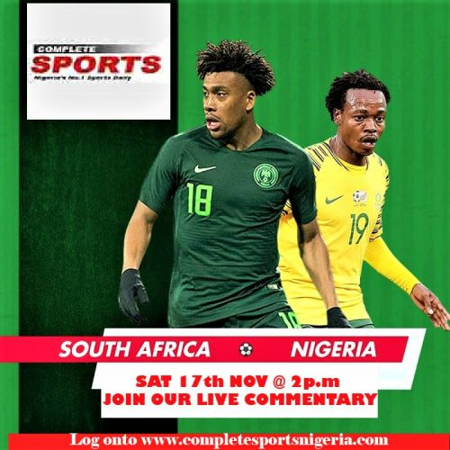 LIVE-BLOGGING – South Africa vs Nigeria 2019 AFCON Qualifier