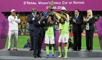Super Falcons Edge Banyana  On Penalties To Clinch 9th AWCON Title