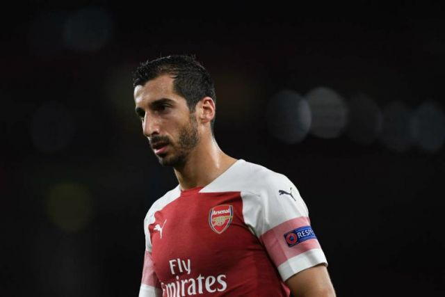 Injured Arsenal midfielder Mkhitaryan out for up to six weeks