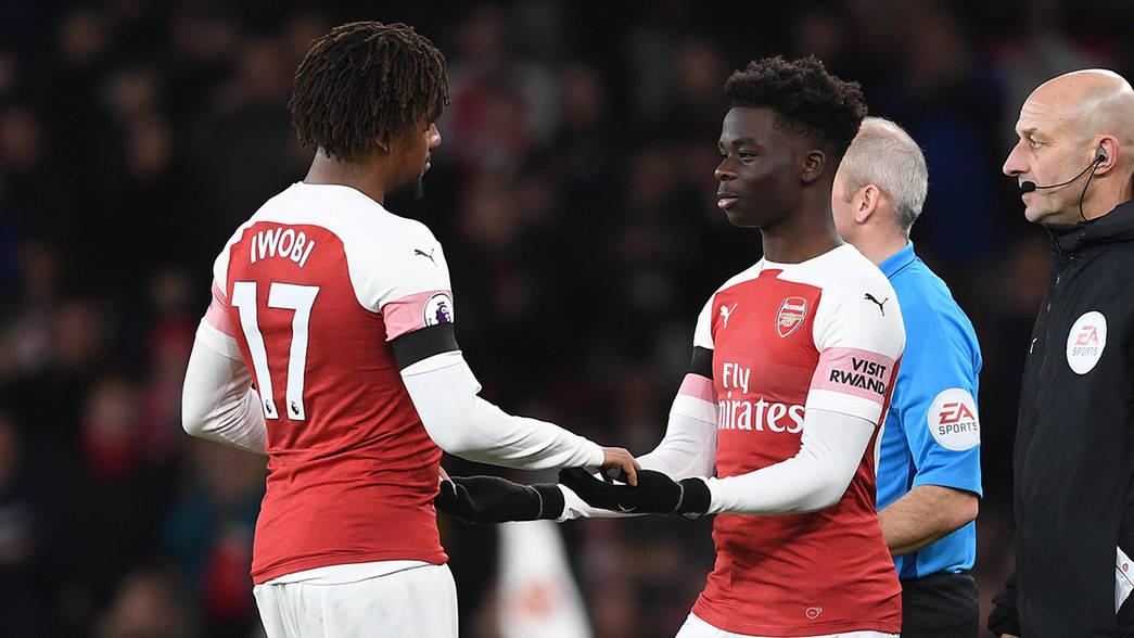 Ghanaian teenager Bukayo Saka excited to have made debut as Arsenal wallop Fulham
